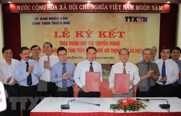 VNA y provincia centrovietnamita firma acuerdo de cooperacion en la comunicacion hinh anh 1