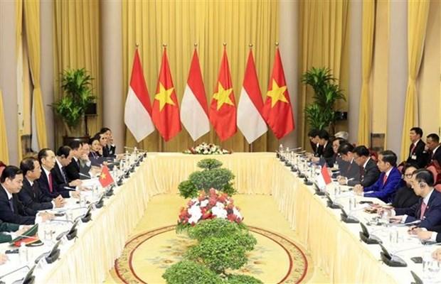 Vietnam e Indonesia acuerdan elevar comercio bilateral a 10 mil millones de dolares hinh anh 1