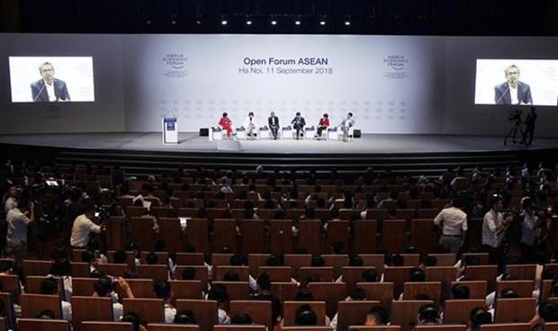Inauguran en Vietnam Foro Economico Mundial sobre la ASEAN hinh anh 1