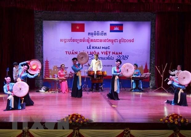 Celebran en Camboya Semana de Cultura de Vietnam hinh anh 1