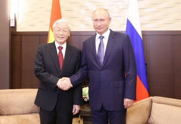 Gira de maximo dirigente partidista de Vietnam coadyuva a impulsar lazos con Rusia y Hungria hinh anh 1