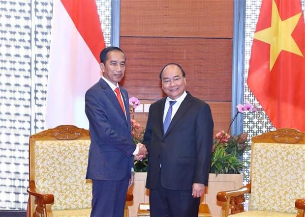 Premier de Vietnam se reune con presidente indonesio Joko Widodo hinh anh 1