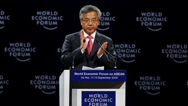 China se compromete a coordinar con FEM en proteccion de globalizacion y multilateralismo hinh anh 1