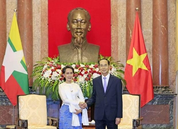 Vietnam atesora la amistad tradicional con Myanmar, afirma presidente hinh anh 1
