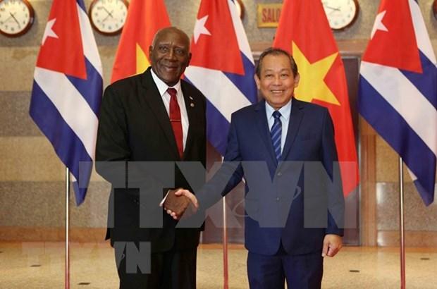 Vietnam y Cuba reiteran atencion al enriquecimiento de las relaciones bilaterales hinh anh 1