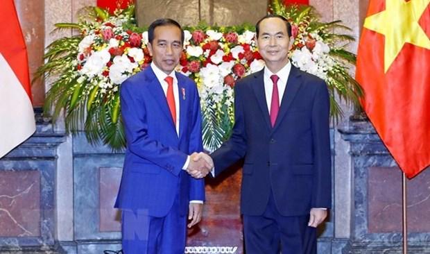 Vietnam e Indonesia decididos a intensificar sus nexos de asociacion estrategica hinh anh 1