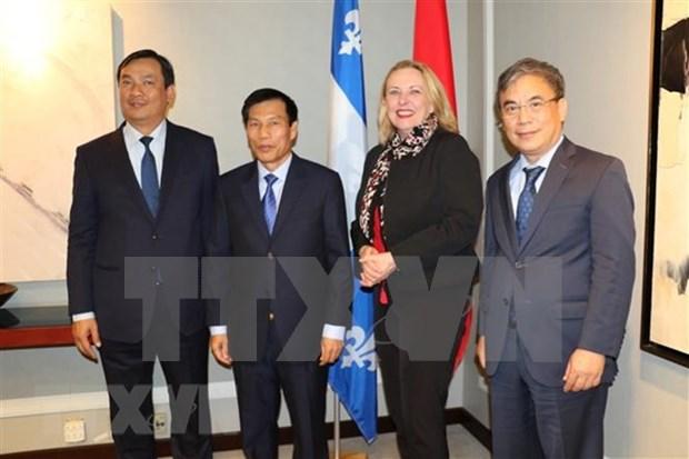 Vietnam robustece lazos con provincia canadiense de Quebec hinh anh 1