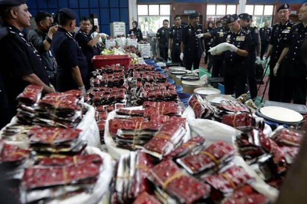 Policia malasia incauta mayor cantidad de drogas desde 1996 hinh anh 1