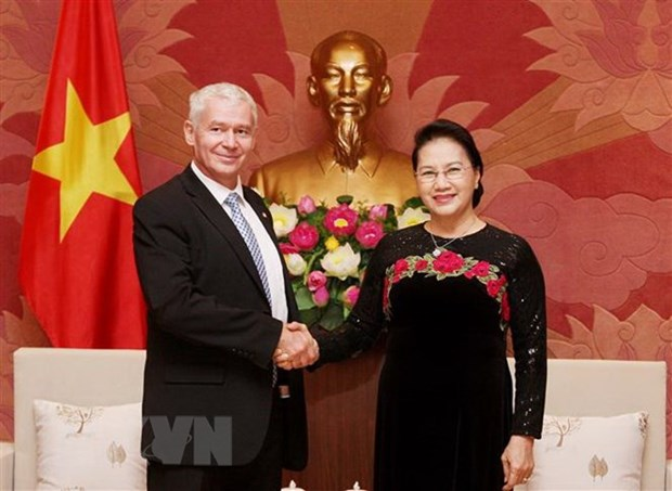Presidenta parlamentaria de Vietnam respalda cooperacion juridica con Hungria hinh anh 1