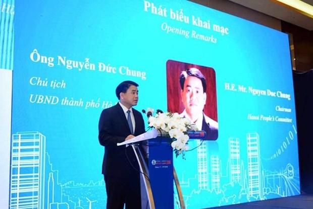 Cumbre de Ciudades Inteligentes 2018 se abre en Hanoi hinh anh 1