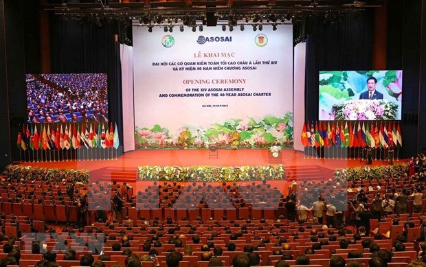 Inauguran en Hanoi XIV Asamblea de Organizacion de Entidades Fiscalizadoras Superiores de Asia hinh anh 1