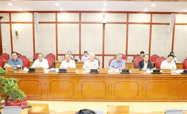 Buro Politico del Partido Comunista de Vietnam prepara contenidos para proximo pleno hinh anh 1