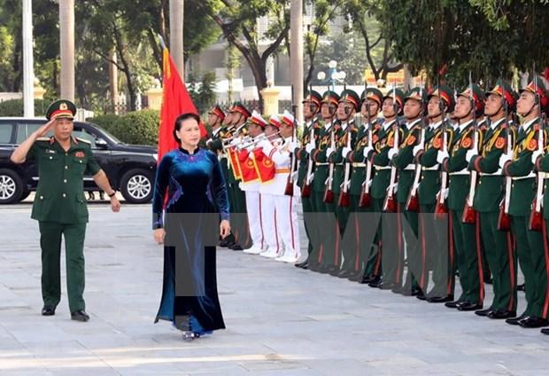 Presidenta del Parlamento de Vietnam asiste a apertura de curso de Academia de Defensa hinh anh 1