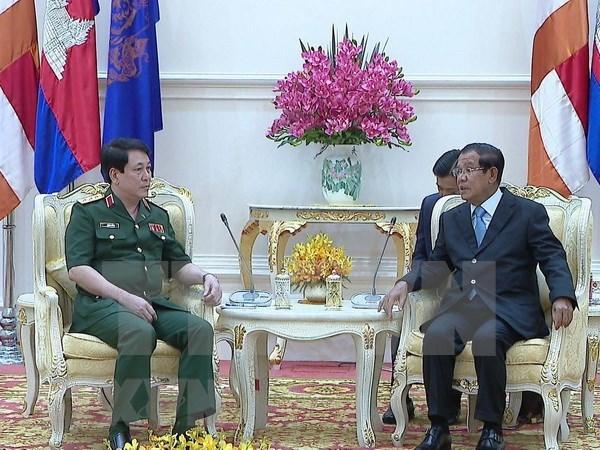 Robustecen nexos Vietnam-Camboya en defensa hinh anh 1