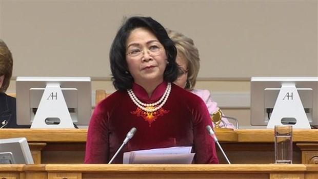 Vicepresidenta de Vietnam dialoga con titular del Consejo de la Federacion de Rusia hinh anh 1
