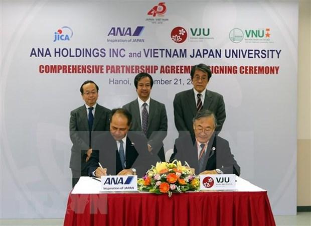Universidad Vietnam- Japon entabla cooperacion con grupo nipon en formacion de estudiantes hinh anh 1