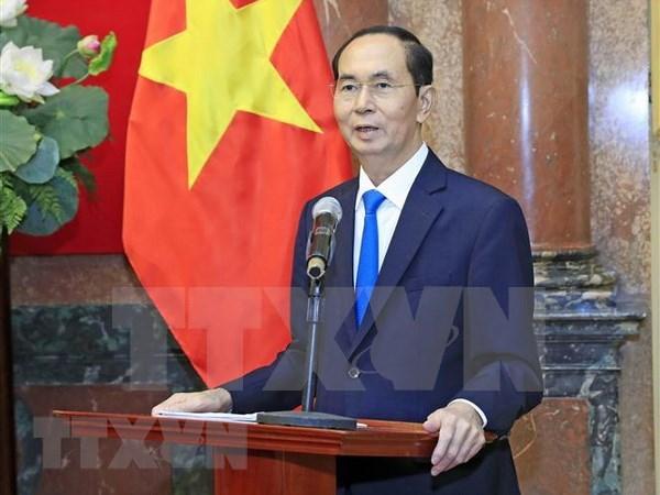 Papa Francisco y otros dirigentes mundiales envian condolencias por deceso del presidente de Vietnam hinh anh 1