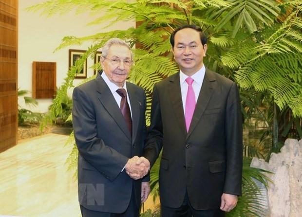 Cuba envia condolencias por fallecimiento del presidente vietnamita Tran Dai Quang hinh anh 1