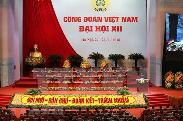 Inauguran en Hanoi duodecimo Congreso Sindical de Vietnam hinh anh 1
