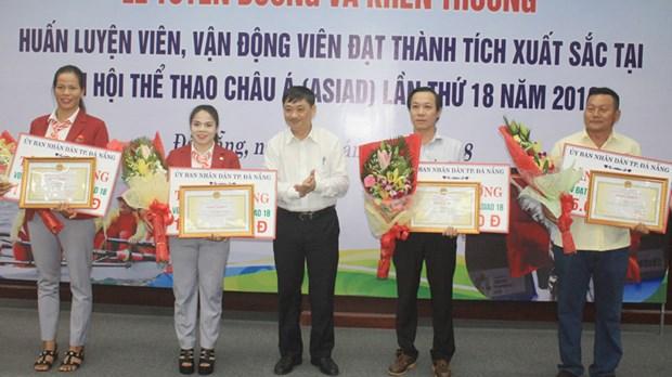 Ciudad vietnamita recompensa a atletas sobresalientes en Juegos Asiaticos 2018 hinh anh 1
