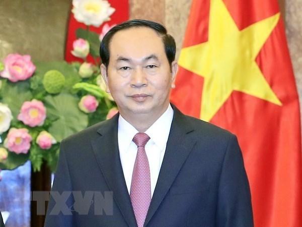 Estudiantes vietnamitas de Ninh Binh se benefician por el fondo creado por el presidente hinh anh 1