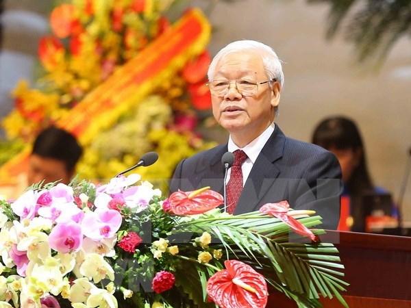 Destaca maximo dirigente partidista de Vietnam liderazgo de la clase obrera en la Revolucion hinh anh 1