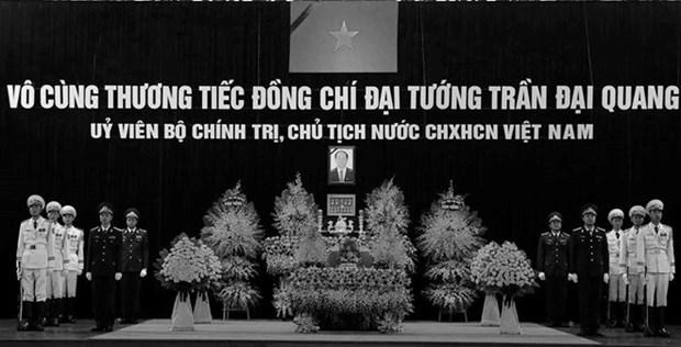 Inician acto funebre en homenaje a presidente vietnamita Tran Dai Quang hinh anh 1