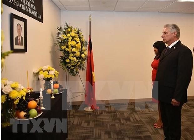 Representacion de Vietnam ante ONU efectua honra funebre por presidente Tran Dai Quang hinh anh 1