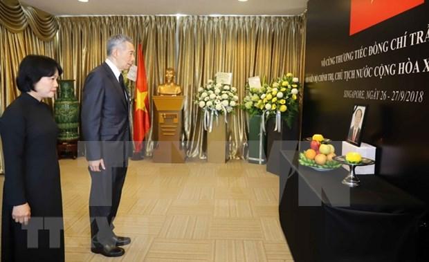 Embajadas de Vietnam en paises sudesteasiaticos rinden homenaje postumo a presidente Tran Dai Quang hinh anh 3
