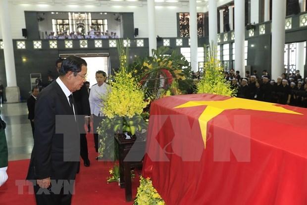 Delegaciones de numerosos paises asisten a honras funebres del presidente de Vietnam en Hanoi hinh anh 1