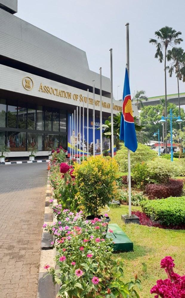 Embajadas de Vietnam en paises sudesteasiaticos rinden homenaje postumo a presidente Tran Dai Quang hinh anh 4
