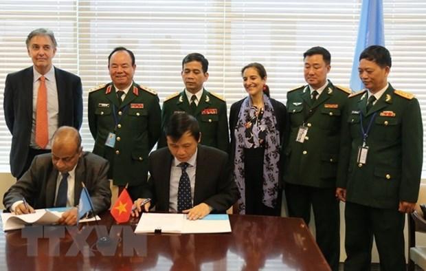 Vietnam y ONU firman memorando sobre envio de hospital de campana a Sudan del Sur hinh anh 1