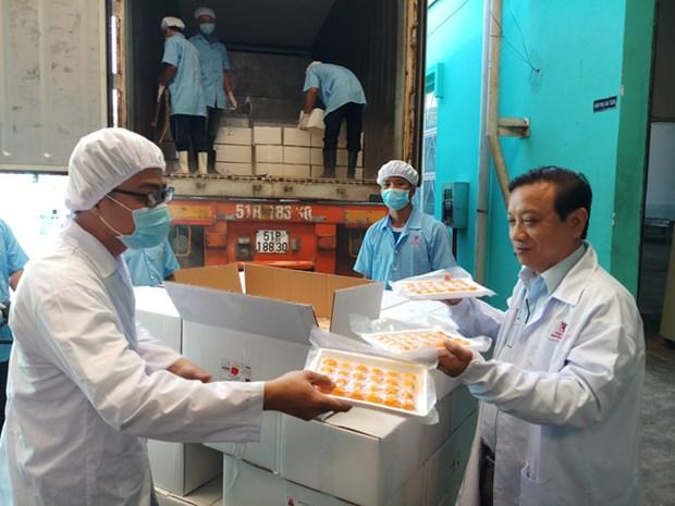 Vietnam exporta huevos de pato salados a Australia hinh anh 1