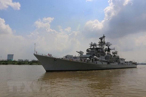 Visita metropolis vietnamita destructor de Armada India hinh anh 1