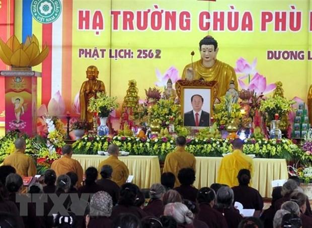 Agradecen muestras de apoyo por deceso del presidente vietnamita Tran Dai Quang hinh anh 1