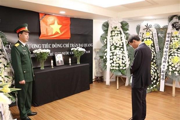 Embajadas de Vietnam en Myanmar y Mexico rinden homenaje postumo al presidente Tran Dai Quang hinh anh 2