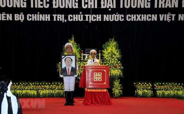 Amigos internacionales manifiestan solidaridad con Vietnam por fallecimiento de presidente Dai Quang hinh anh 1
