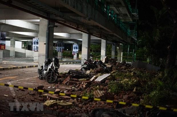 Registran terremoto de 6,1 grados en isla indonesia de Sulawesi hinh anh 1