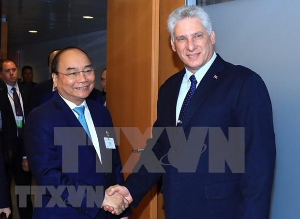 Premier de Vietnam cumple apretada agenda de trabajo en Nueva York hinh anh 1