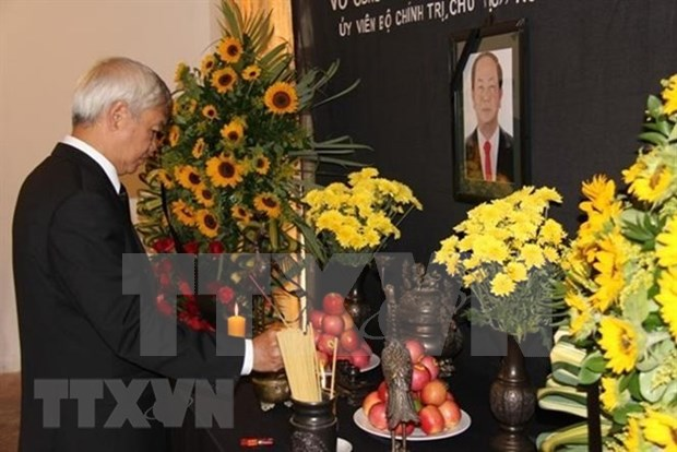 Rinden tributo en Espana y Venezuela a presidente vietnamita Tran Dai Quang hinh anh 1