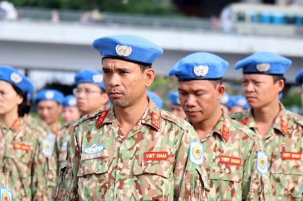 Destacan papel de los cascos azules vietnamitas como mensajeros de paz, cultura y fuerza militar de su pais hinh anh 1