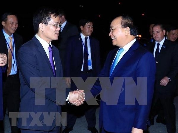 Premier de Vietnam llega a Hanoi tras concluir su participacion en debate de ONU hinh anh 1