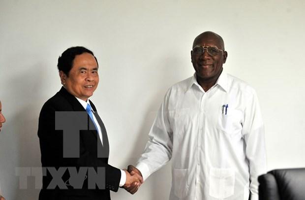 Dirigentes de Cuba confian en potencilidades de cooperacion con Vietnam hinh anh 1
