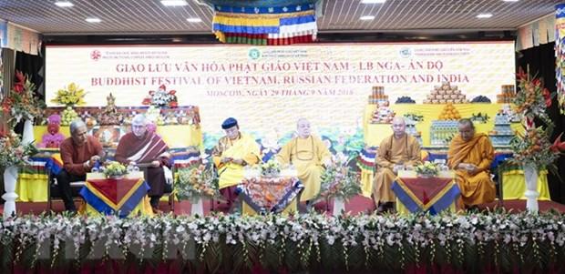Efectuan en Moscu intercambio cultural budista de Vietnam, Rusia y la India hinh anh 1
