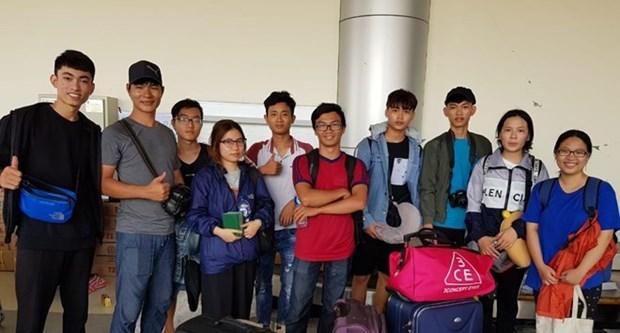 Embajada de Vietnam acelera traslado de estudiantes coterraneos en Palu a Yakarta tras sismo hinh anh 1