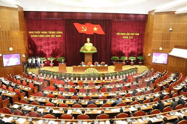 Comite Central del Partido Comunista de Vietnam concluye primera jornada de su octavo pleno hinh anh 1