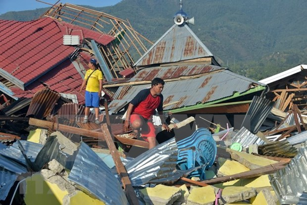Aceleran labores de mitigacion de consecuencias de desastres naturales en Indonesia hinh anh 1