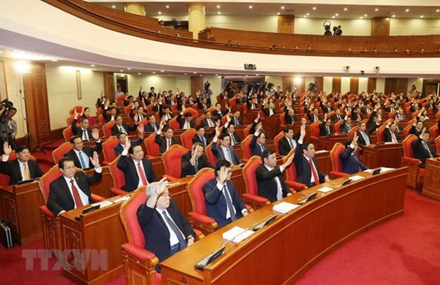 Comite Central del Partido Comunista de Vietnam anuncia resultados de su octavo pleno hinh anh 1