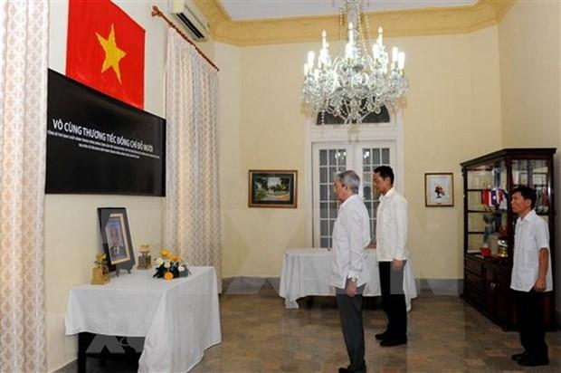 Efectuan en Cuba homenaje postumo al ex secretario general Do Muoi hinh anh 1