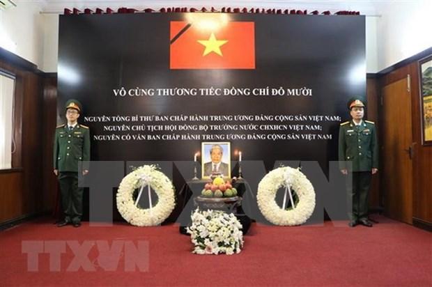 Ceremonias memoriales al exsecretario general Do Muoi en Asia hinh anh 2